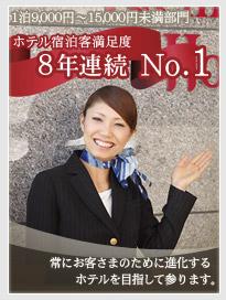 ホテル宿泊客満足度7年連続No.1